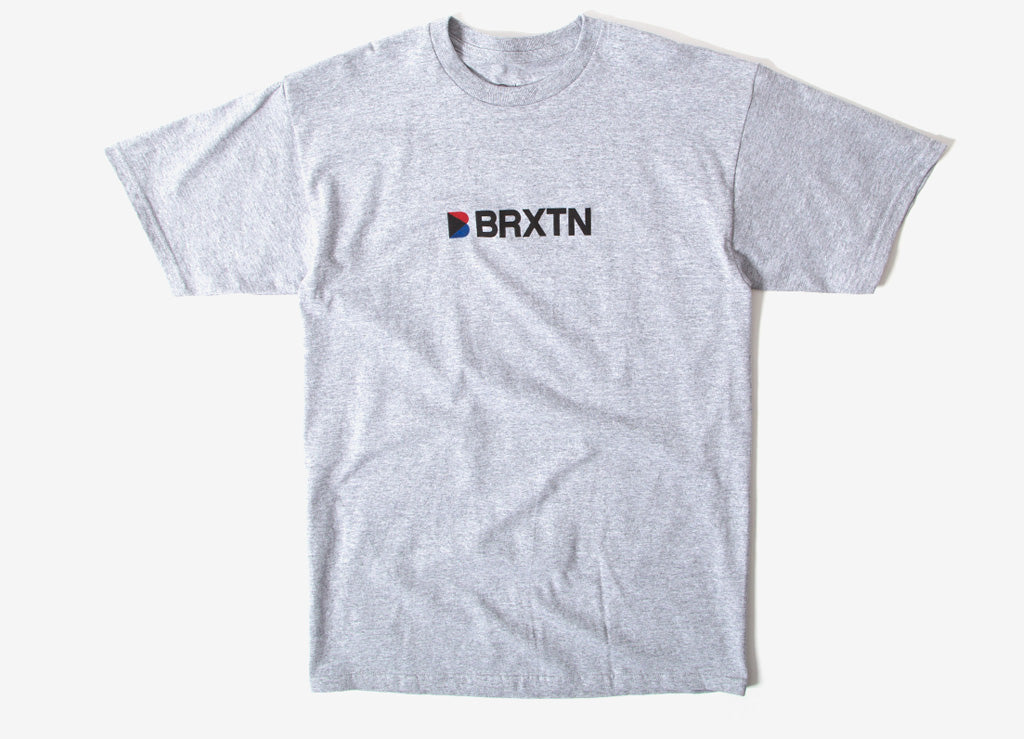 Brixton Stowell IV T Shirt - Heather Grey