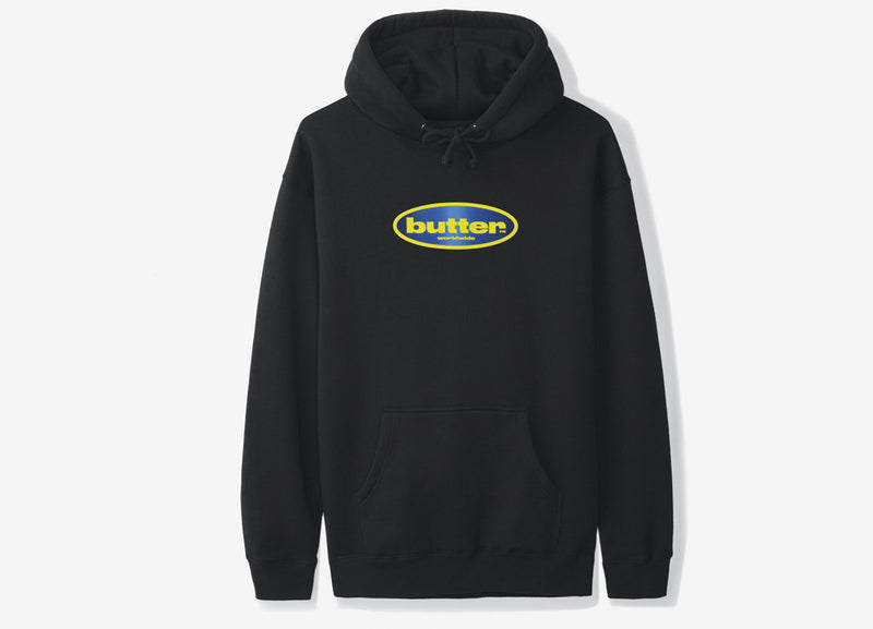 Butter Goods Surf Logo Pullover Hoody - Black