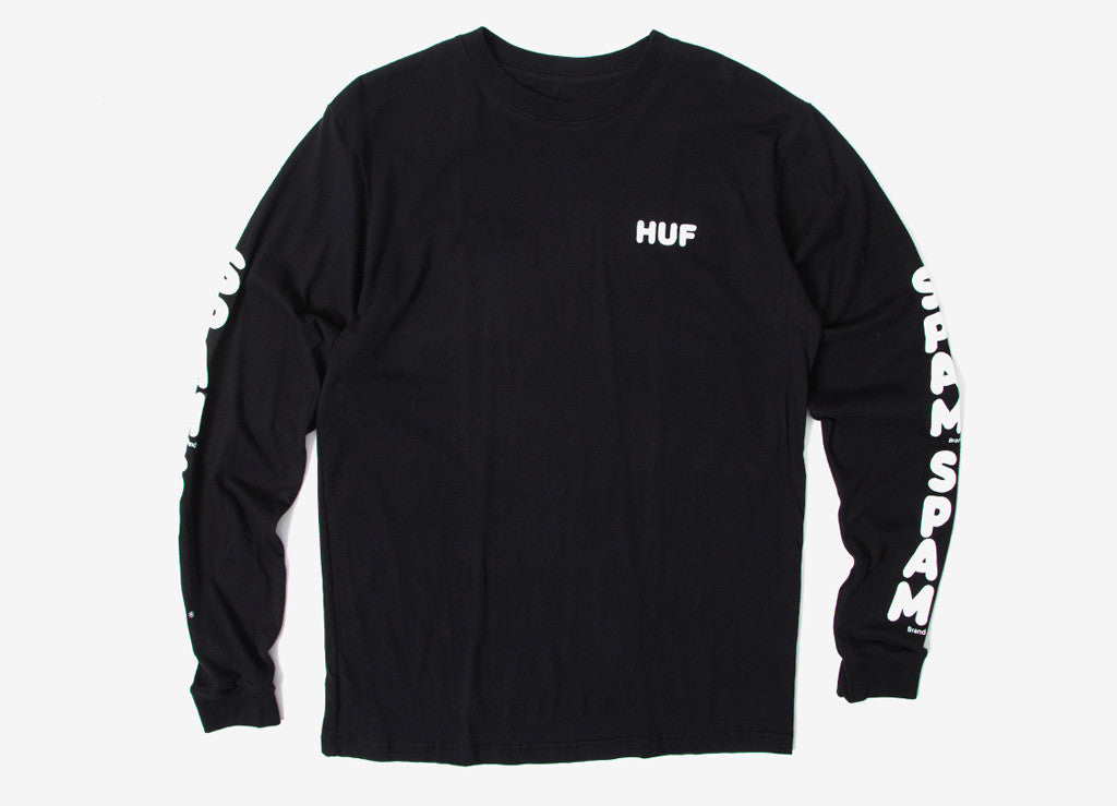 HUF Spam Long Sleeve T Shirt - Black