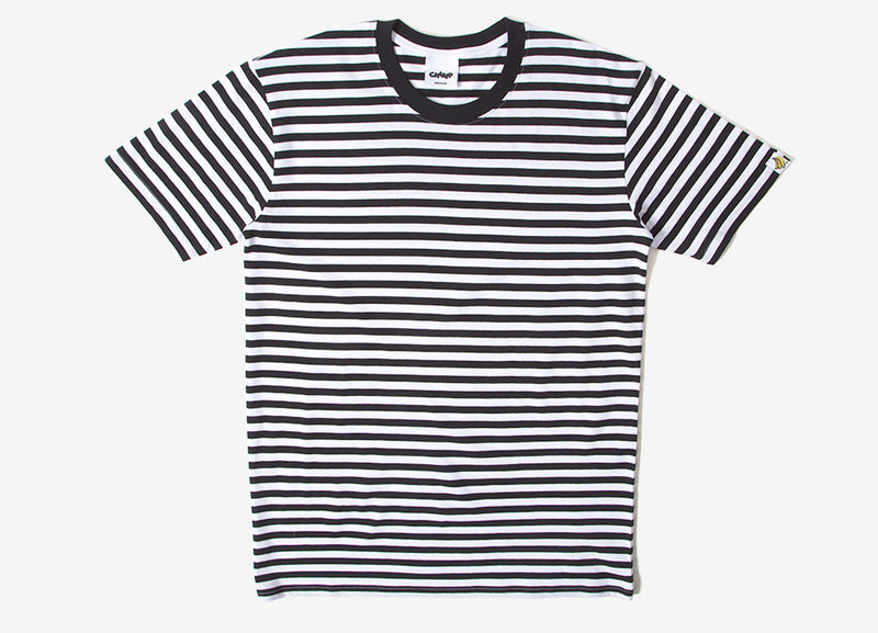 Chimp Premium Staple Stripe T Shirt - Black/White