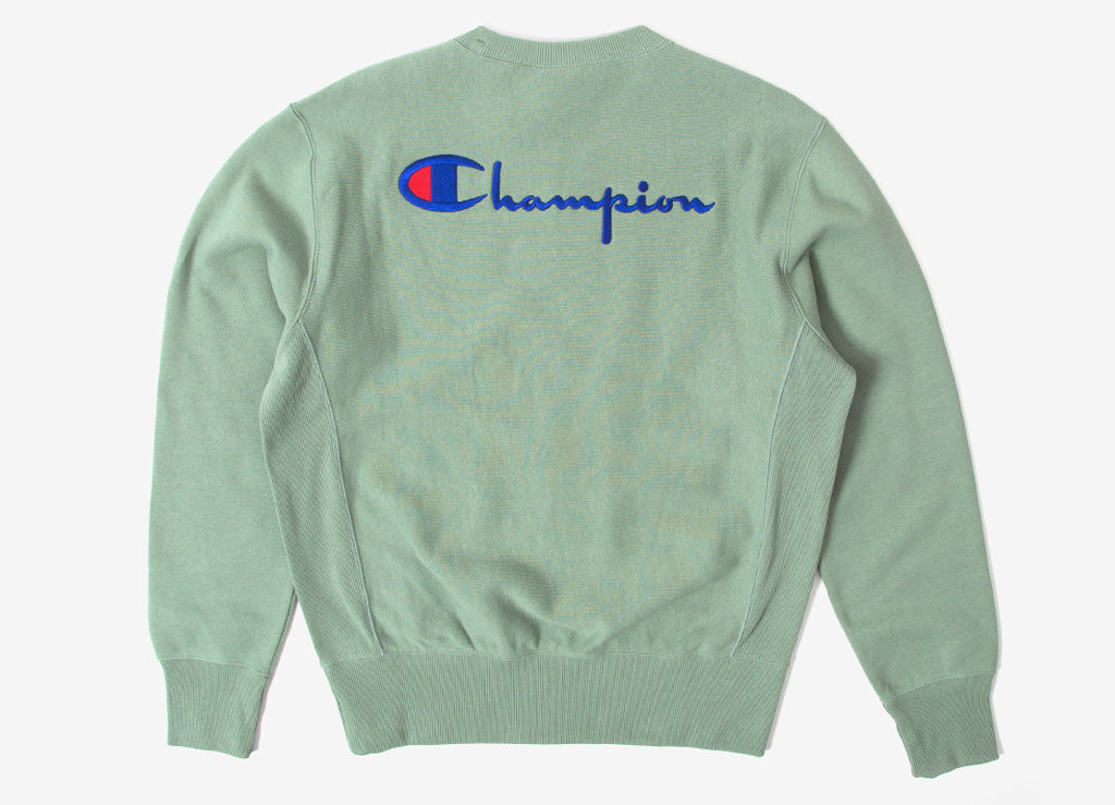 Champion Reverse Weave Script Sweatshirt - Dusty Green