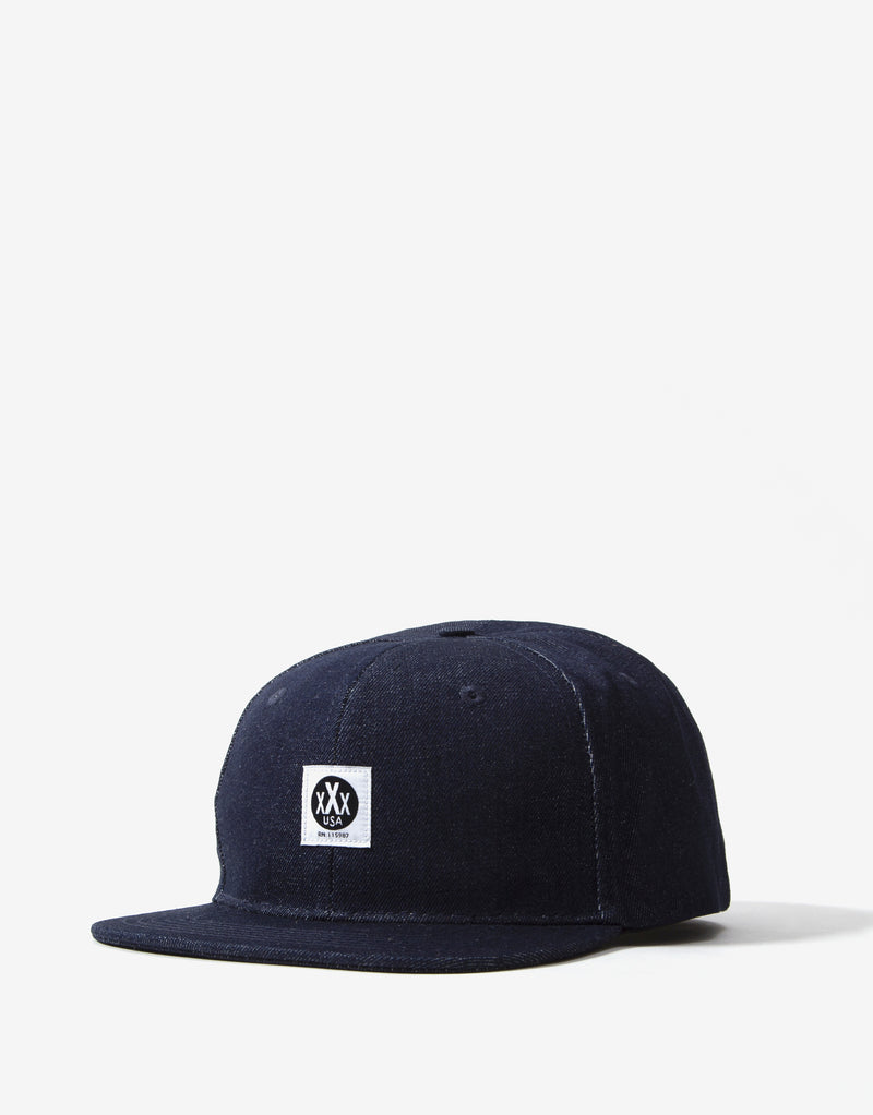 10Deep Canvas Logo Hat - Raw Indigo