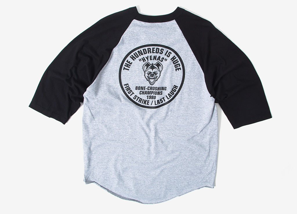 The Hundreds Scout Raglan T Shirt - Black/Athletic Heather