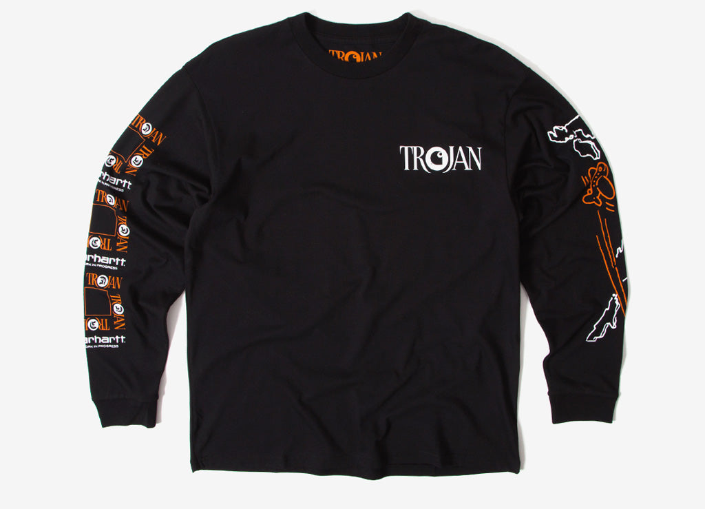 Carhartt x Trojan Boss Sounds LS T Shirt - Black
