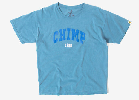Chimp College Pigment Dyed T Shirt - Ice Blue