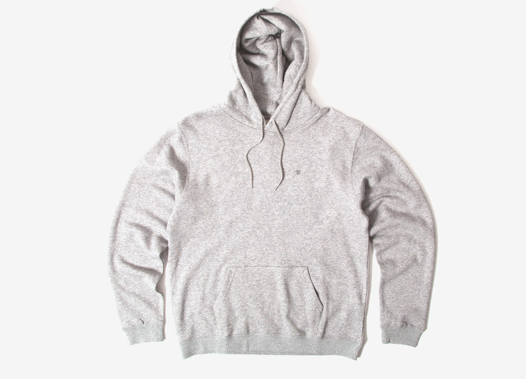 Brixton B-Shield Pullover Hoody - Heather Grey
