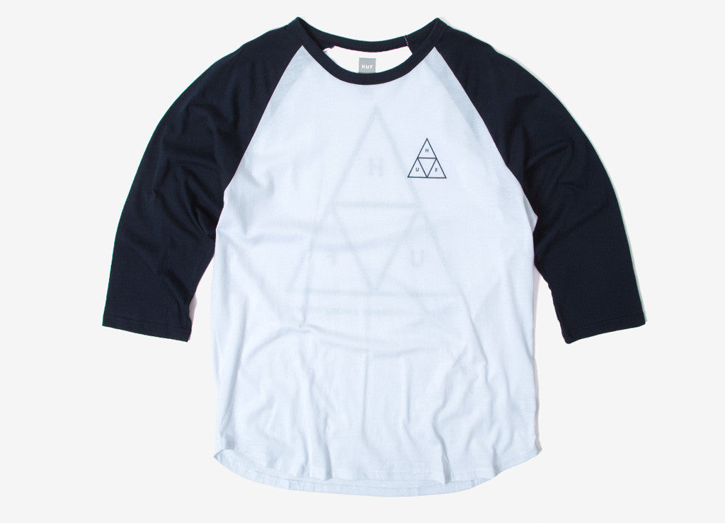 HUF Triple Triangle Raglan T Shirt - Navy
