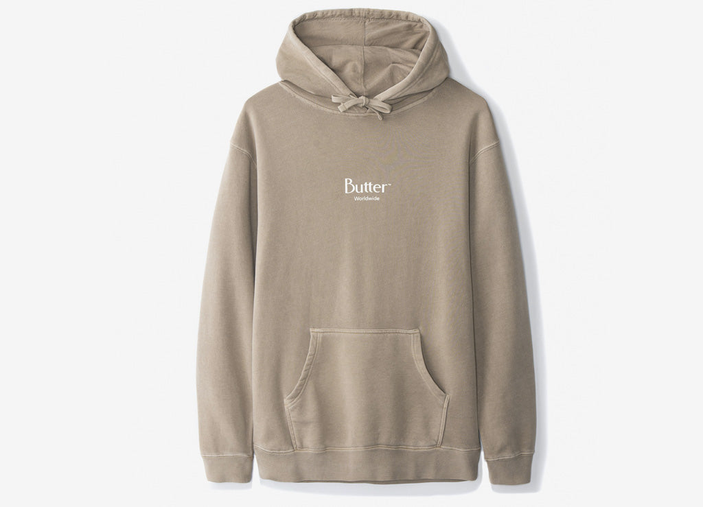 Butter Goods Micro Logo Pullover Hoody - Sandstone
