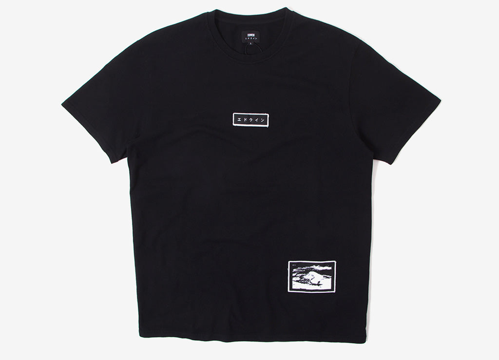 Edwin Katanka Patch T Shirt - Black Garment Washed