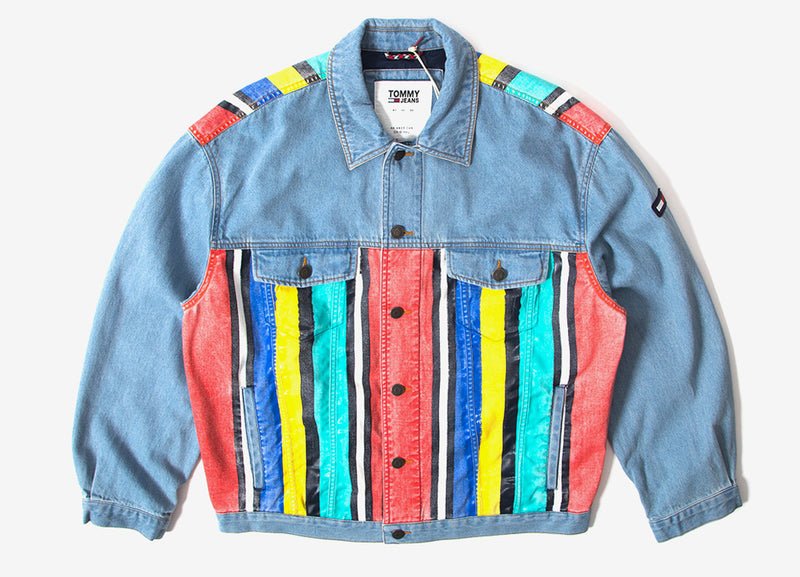 Tommy Jeans Stripe Denim Jacket - Light Indigo