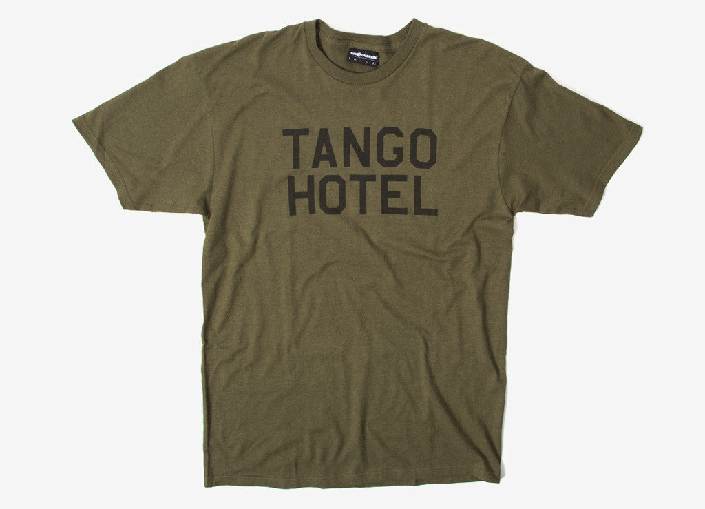 The Hundreds Hotel T Shirt - Military Green
