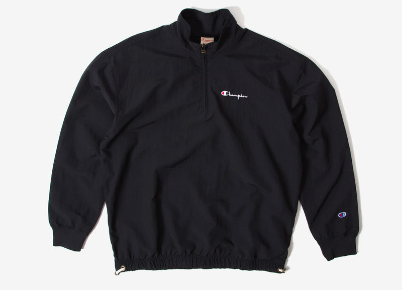 Champion Peached Feel Crinkle Half Zip Top - Black