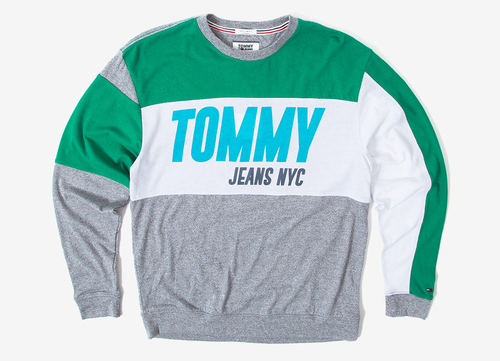 f08a99f2 Tommy Jeans Big Text LS T Shirt | Tommy Jeans T Shirts | Tees | The Chimp  Store