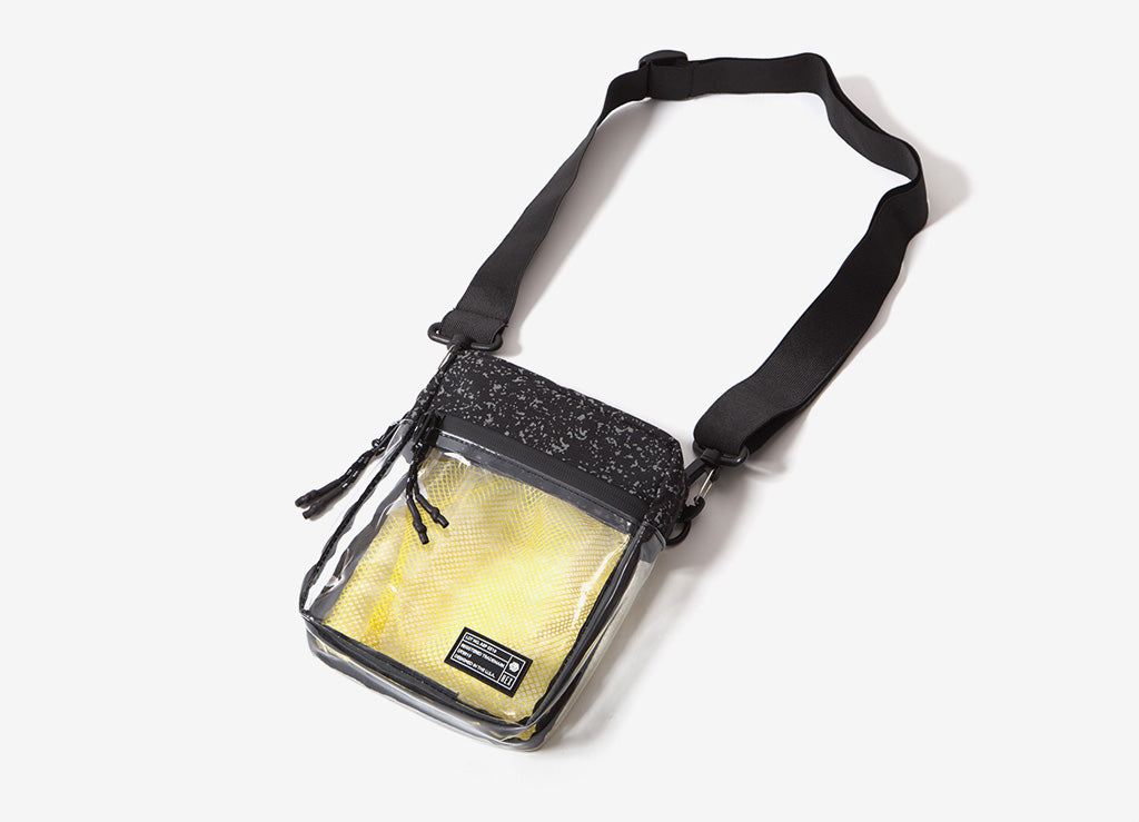 HEX Cross Body Pouch - Clear/Black