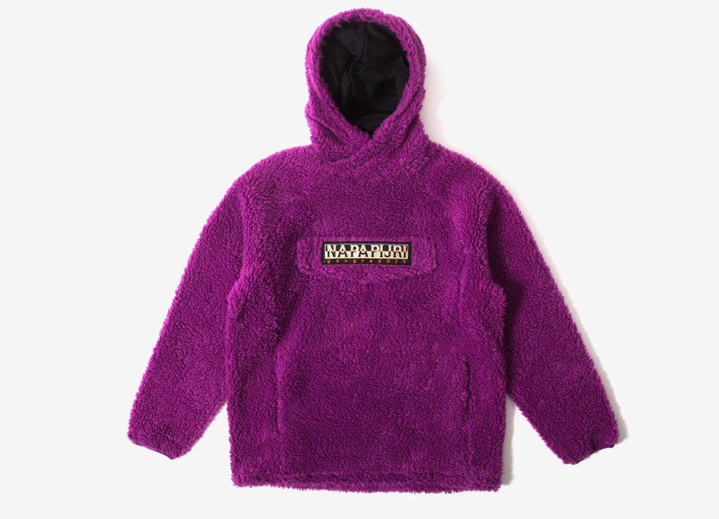 Napapijri Telve Pullover Curly Fleece Hoody - Mid Purple