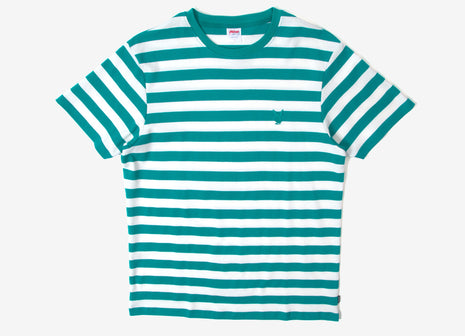 Good Worth & Co x Playboy Bunny Stripe T Shirt - Teal/White