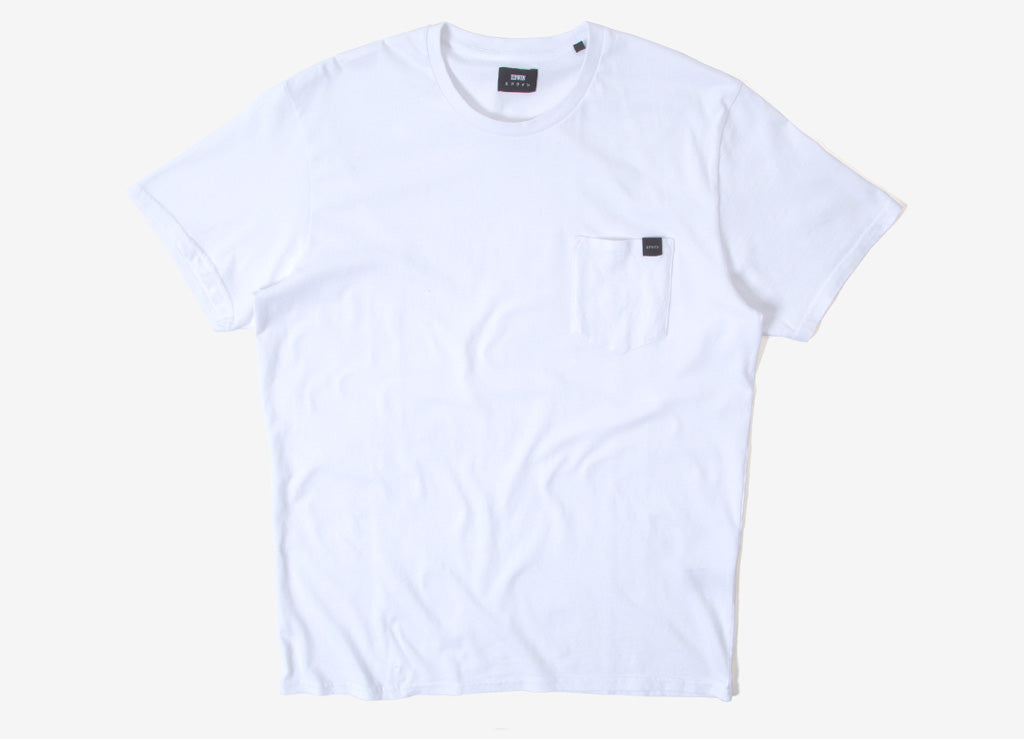 Edwin Pocket T Shirt - White Garment Washed