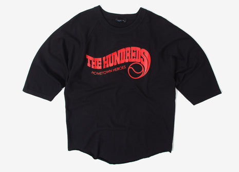 The Hundreds Big Wave Raglan T Shirt - Black/Black