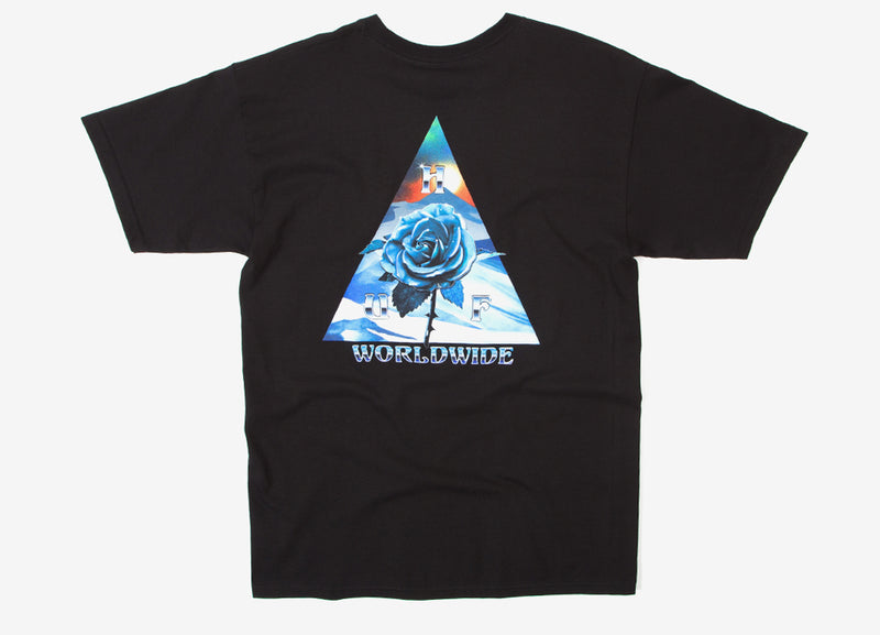 HUF Ice Rose Triple Triangle T Shirt - Black