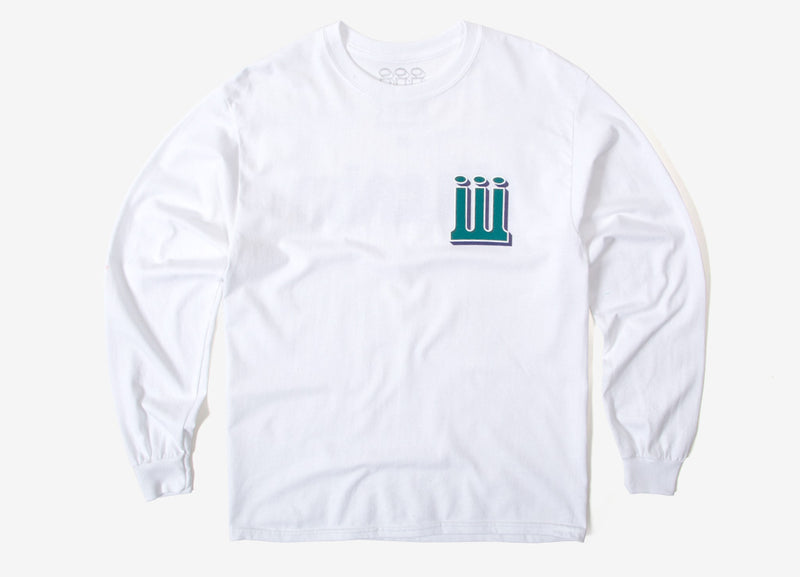Piilgrim Structure Long Sleeve T Shirt - White