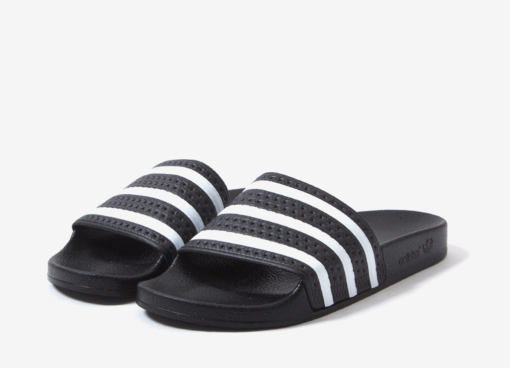 adidas Originals Adilette Slides - Black/White
