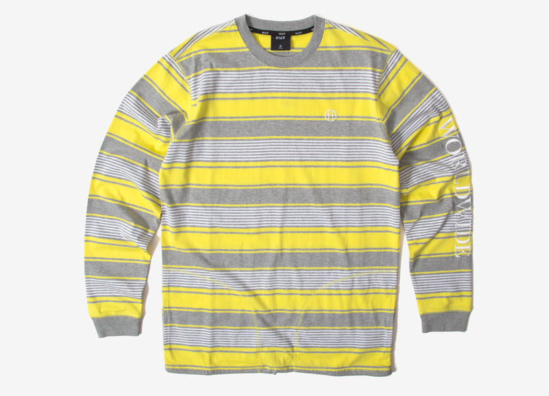 HUF Essex Long Sleeve Knit Top Shirt - Aurora Yellow