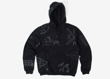 10Deep Full Clip Hoody - Black
