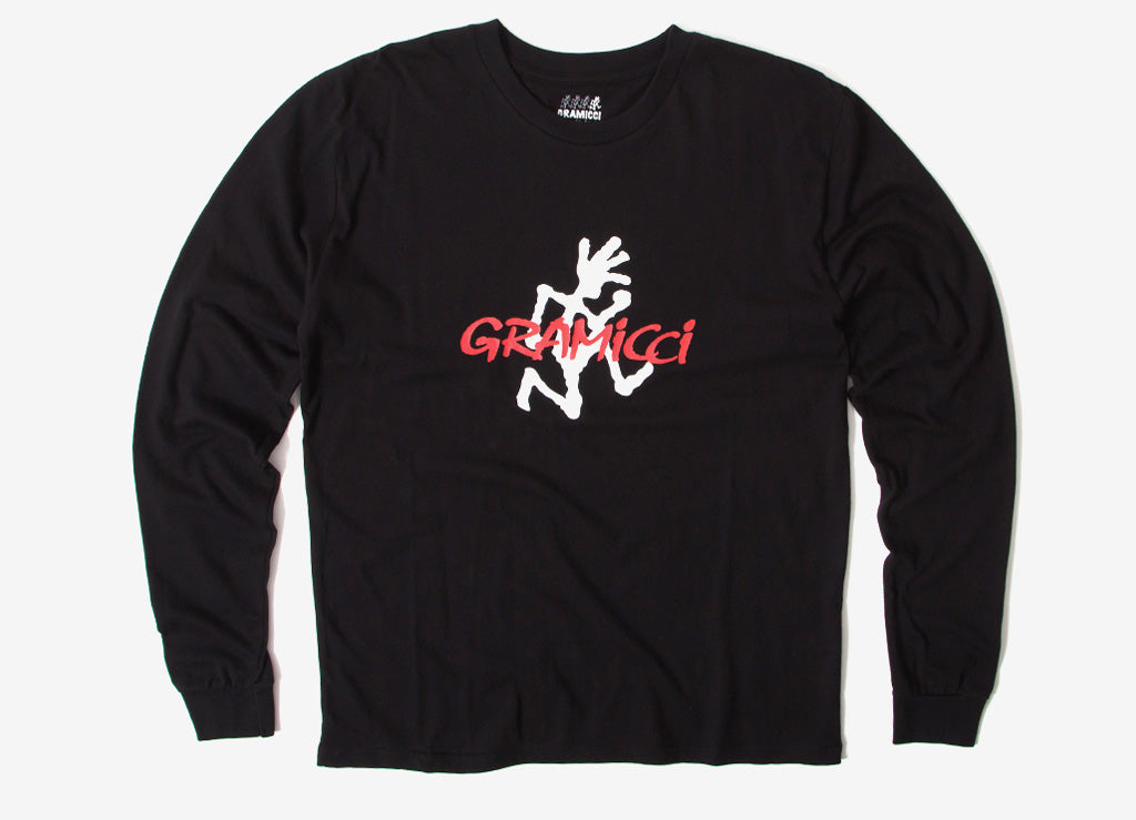 Gramicci Japan Logo Long Sleeve T Shirt - Black