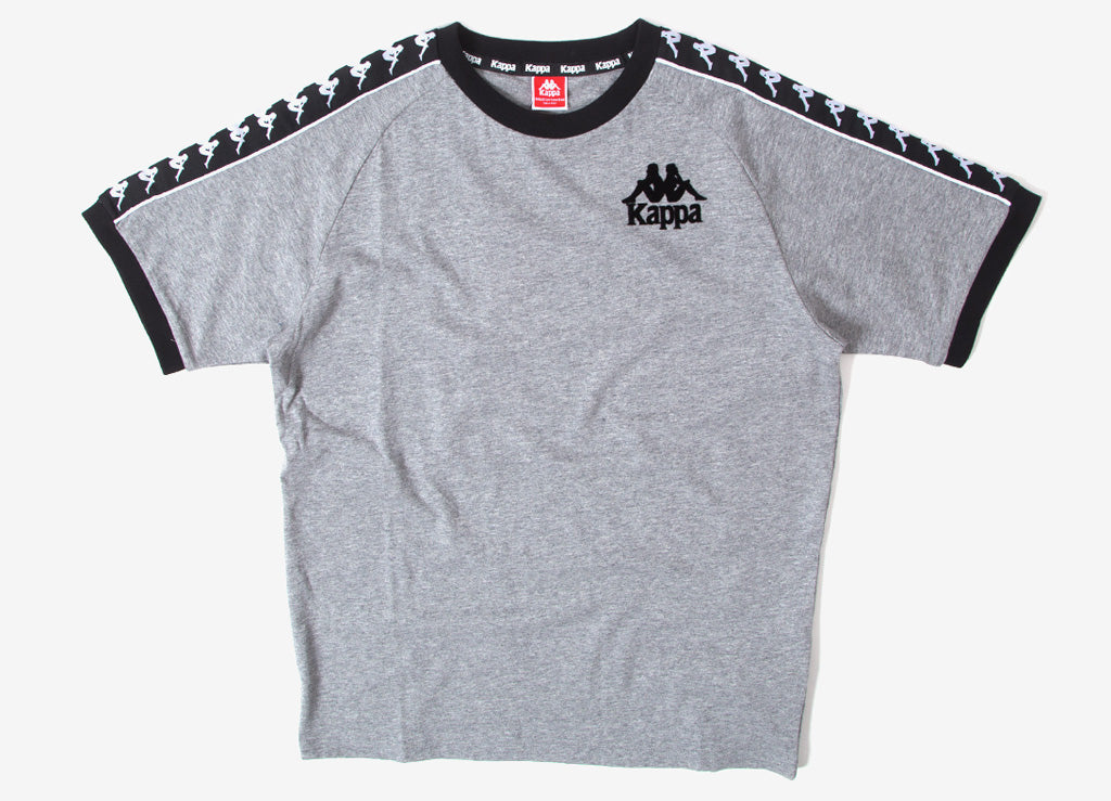 Kappa Raul Authentic T Shirt  - Grey/Black