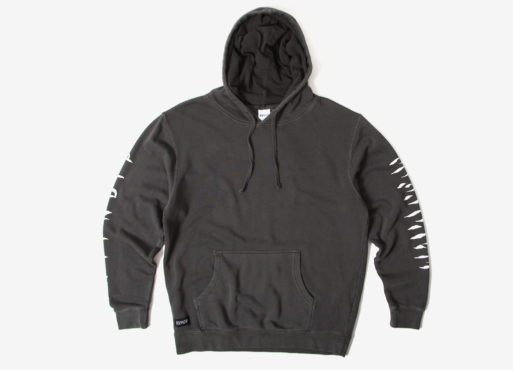Rip N Dip Tattoo Nerm Pigment Dyed Pullover Hoody Black