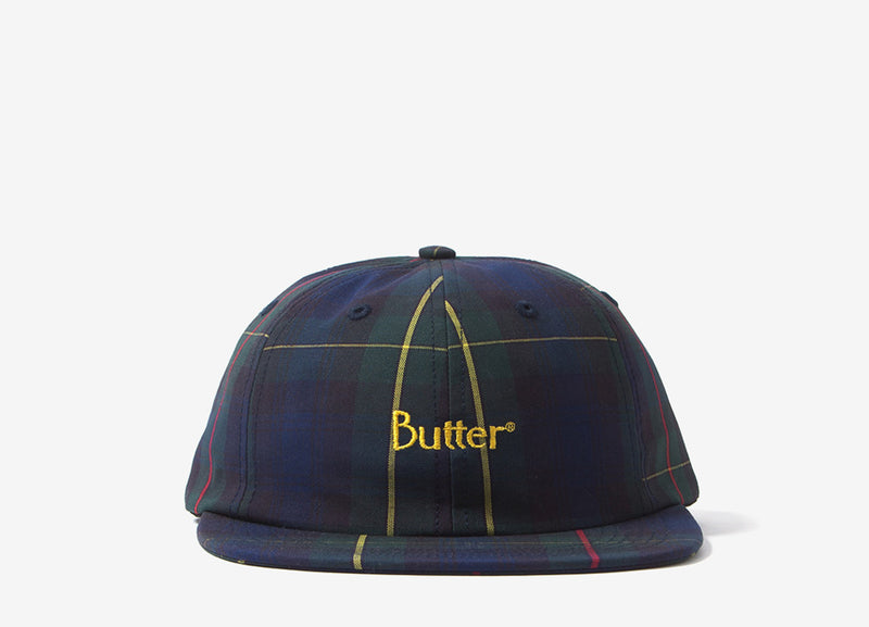 Butter Goods Plaid 6 Panel Cap - Navy