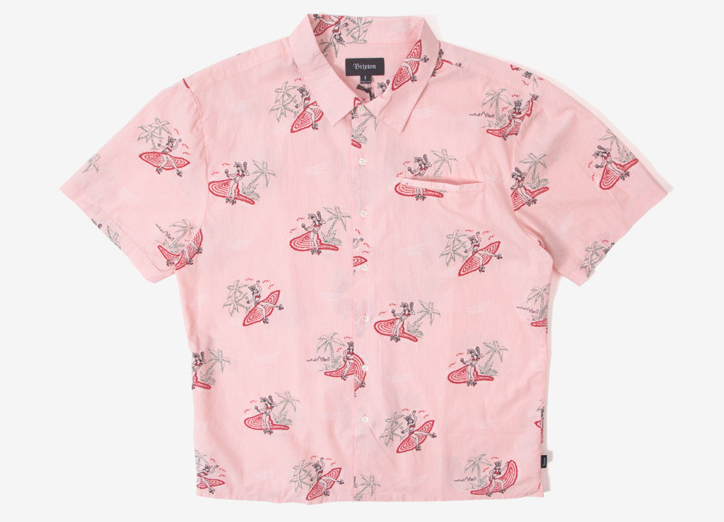 Brixton Bueller Short Sleeve Shirt - Dusty Pink
