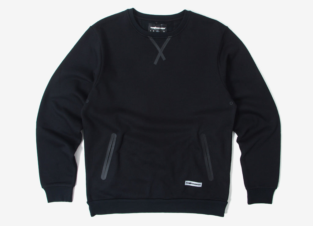 The Hundreds Flex Crewneck Sweatshirt - Black