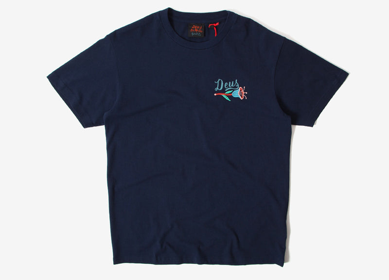 Deus Ex Machina Bjorn Camperdown T Shirt - Navy