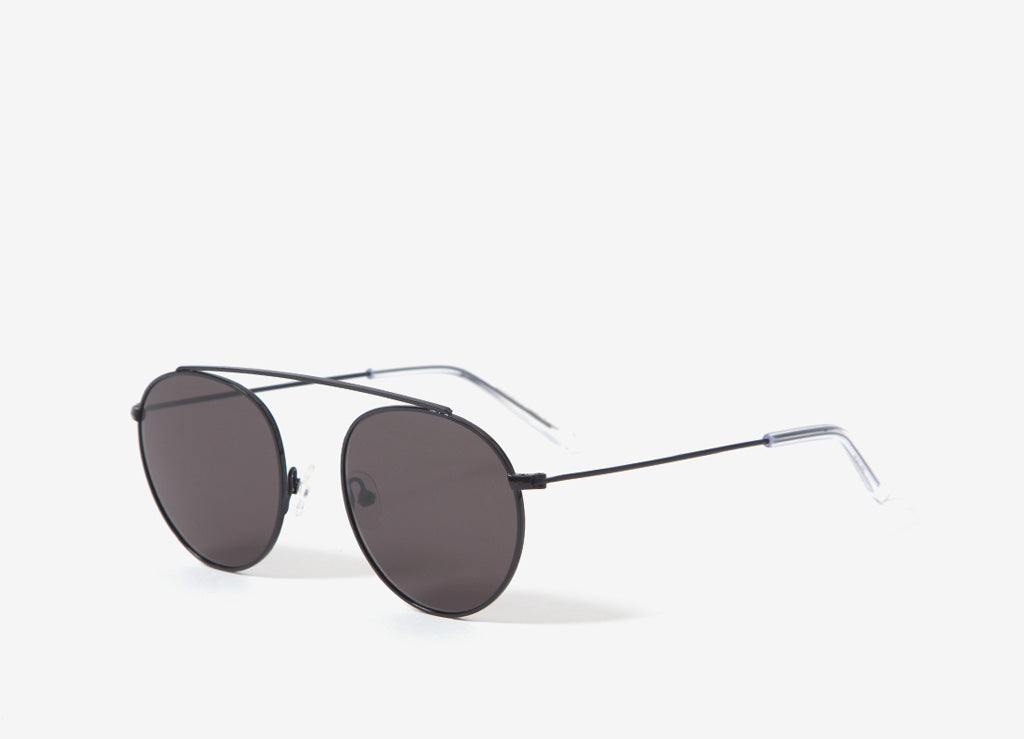 Monokel Iota Sunglasses - Black (Solid Grey Lens)