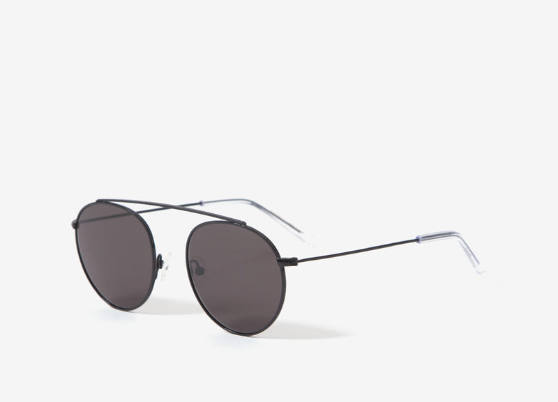 Monokel Eyewear Iota Sunglasses - Black (Solid Grey Lens)