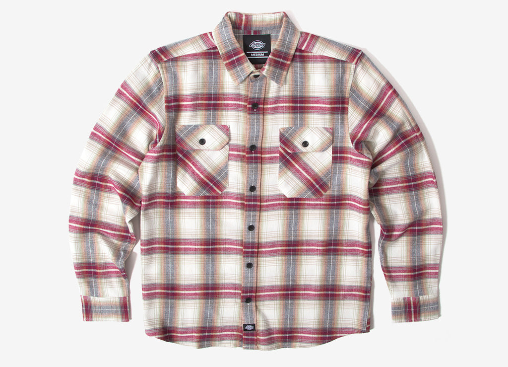 Dickies Canaan Flannel Shirt - Red