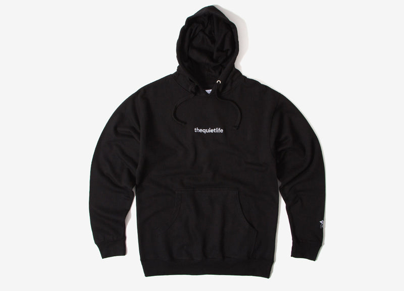 The Quiet Life Embroidered Origin Pullover Hoody - Black