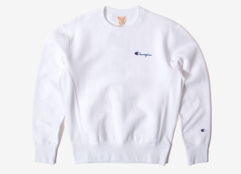 Champion Embroidered Logo Crewneck Sweatshirt - White