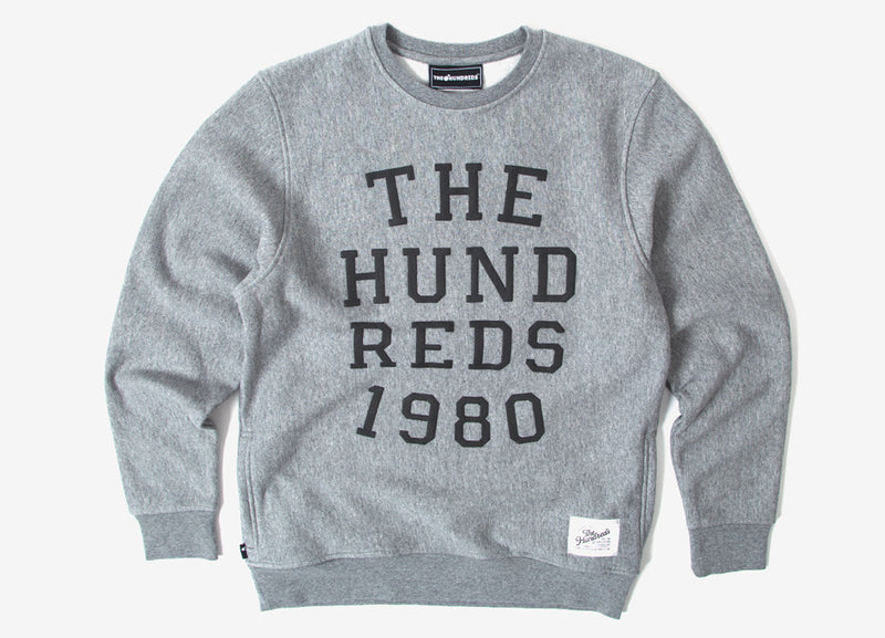 The Hundreds Report Crewneck Sweatshirt - Athletic Heather