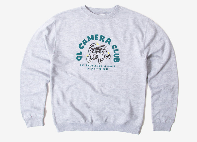 The Quiet Life Camera Hands Crewneck Sweatshirt - Heather Grey