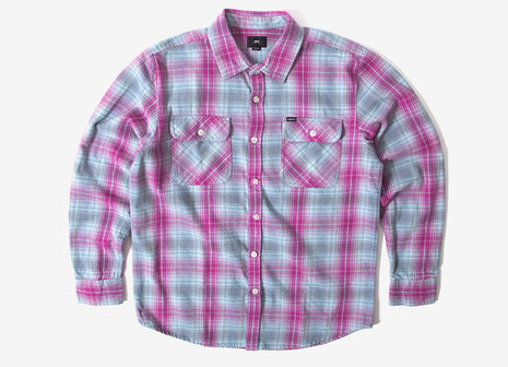 Obey Continental Woven Shirt - Pink Multi