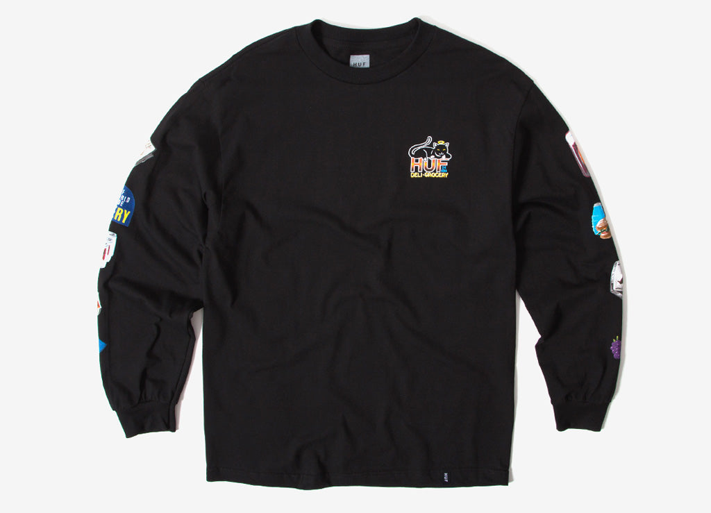 HUF Bodega Long Sleeve T Shirt - Black