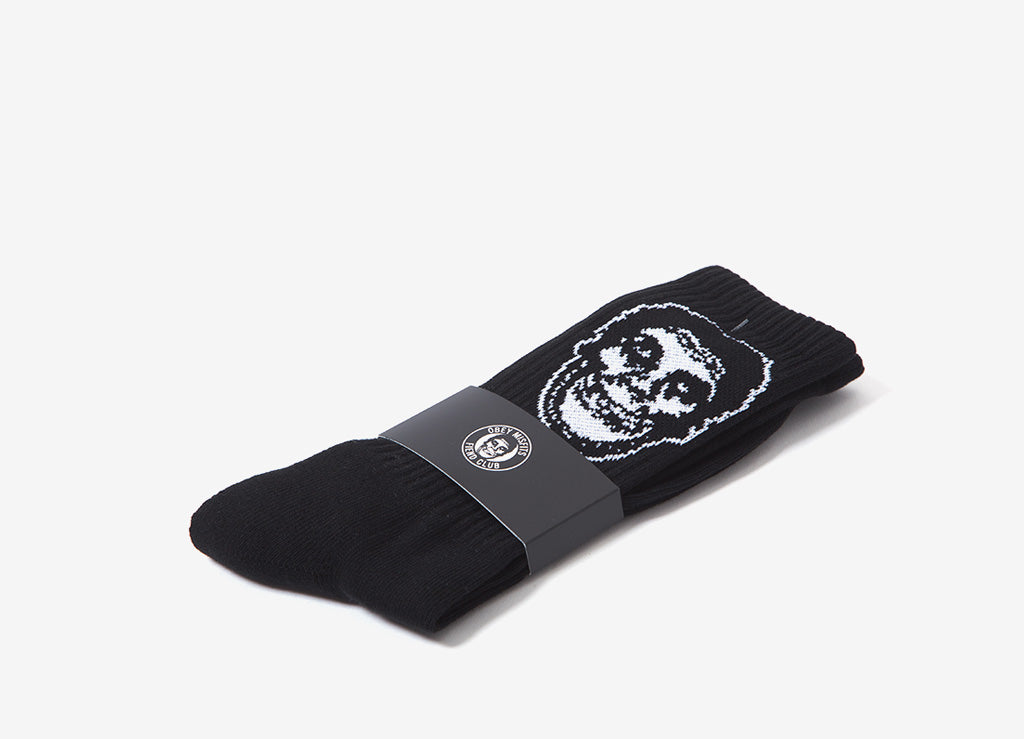 Obey x The Misfits Socks - Black