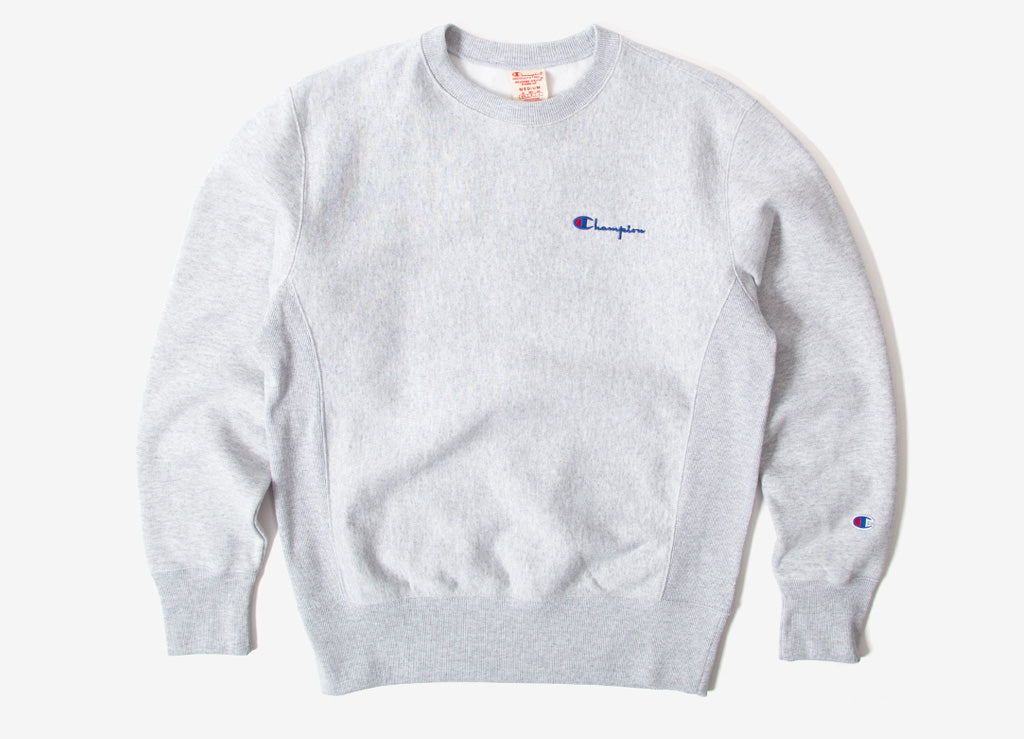 Champion Reverse Weave Embroidered Sweatshirt - Heather Grey