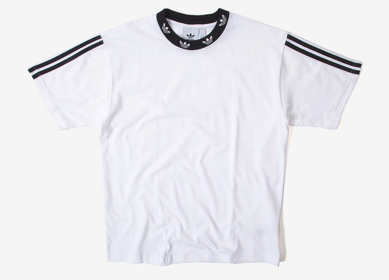 adidas Originals Trefoil Rib T Shirt - White/Black