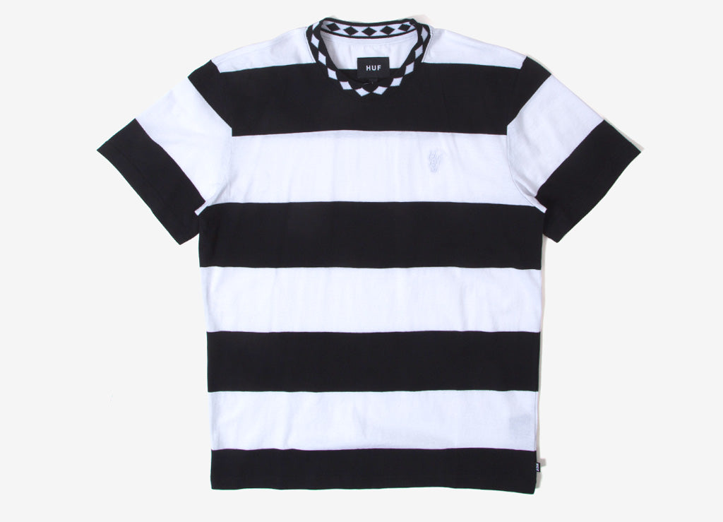 40c85aa53a HUF Ace Stripe T Shirt | HUF Tees | Striped T Shirts | The Chimp Store