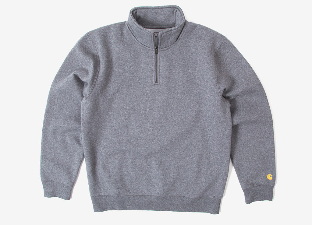 Carhartt Chase Highneck 1/4 Zip Sweatshirt - Dark Grey Heather