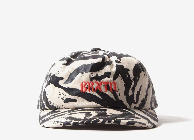 Brixton March LP Snapback Cap - Washed Black Bone