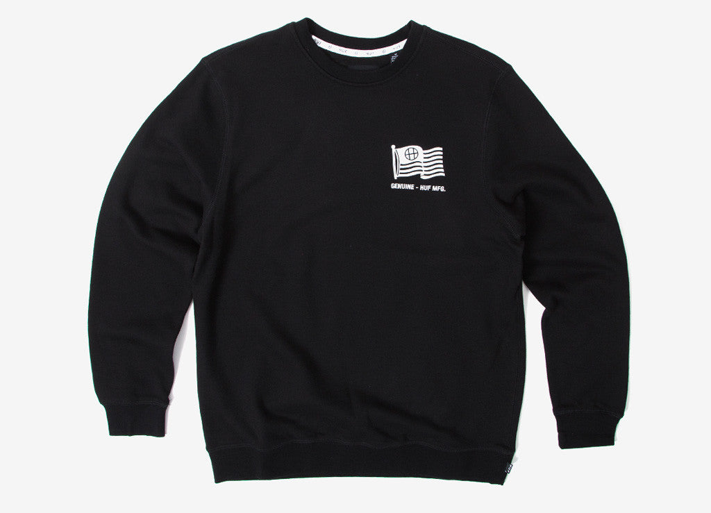 HUF Set Flag Crewneck Sweatshirt - Black